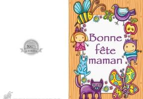 Carte fête des mères colorée
