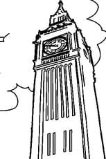 Coloriage Big Ben et son horloge en Ligne Gratuit à imprimer