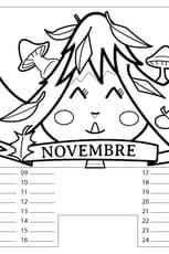 Coloriage Calendrier Novembre