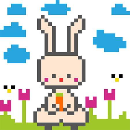 Lapin En Pixel Art