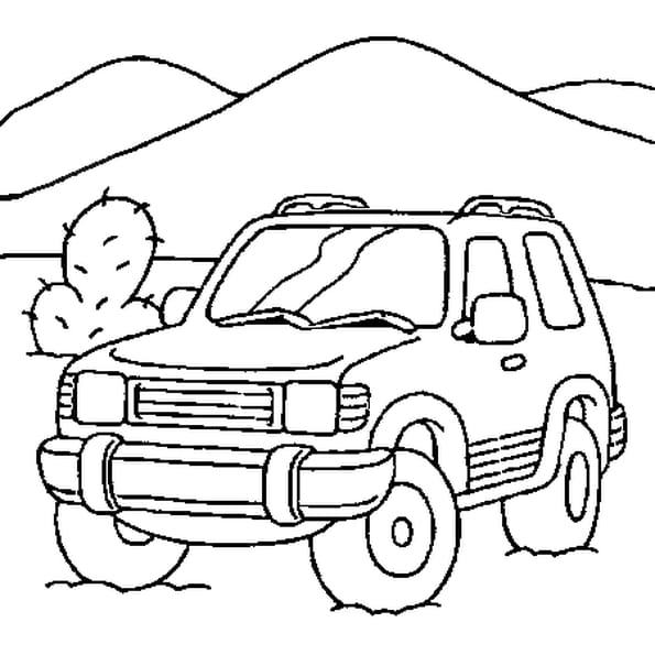 coloriage a imprimer jeep. Black Bedroom Furniture Sets. Home Design Ideas