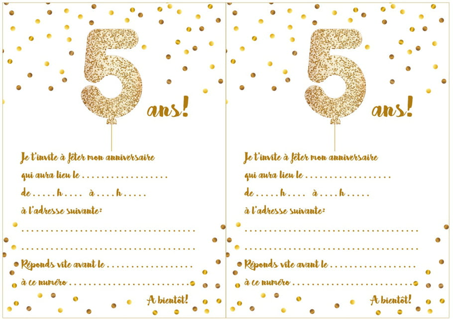 Carte Dinvitation Anniversaire A Imprimer