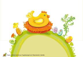 Carte cocotte de Pâques