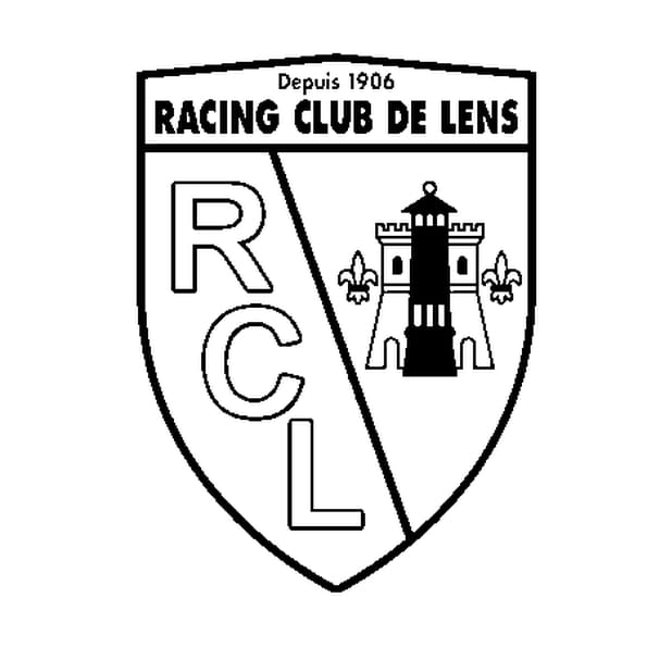 Coloriage Écusson RC Lens