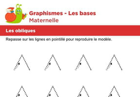 Les bases du graphisme, les obliques niveau 5