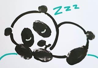 Comment dessiner un bébé panda dormeur?