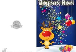 Carte de Noël petit renne