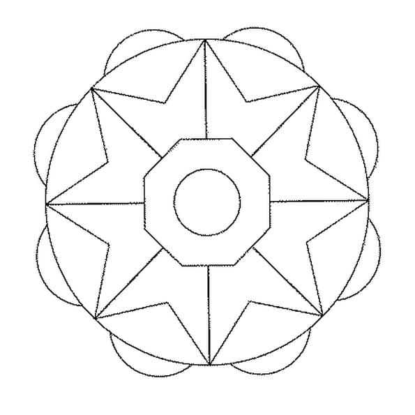 Coloriage mandala facile en ligne gratuit imprimer - Coloriage mandala en ligne ...