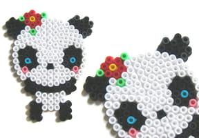 Panda Kawai en perles à repasser