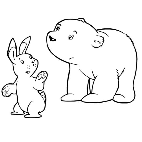 Coloriage plume ours polaire en Ligne Gratuit à imprimer