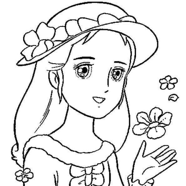 Dessin de princesse a colorier