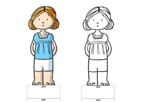 Paper doll fille blonde