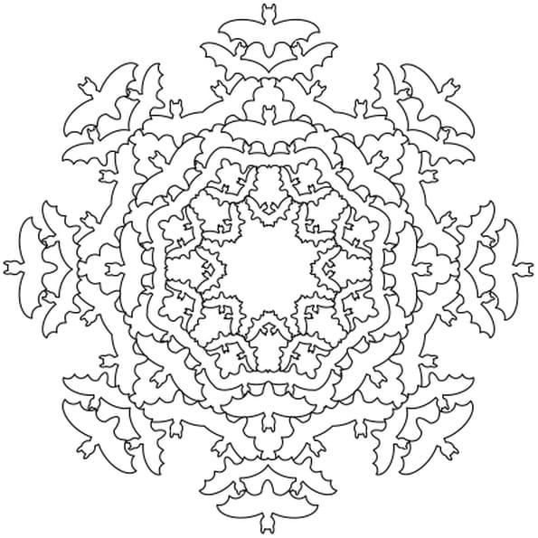 Coloriage Halloween Mandala En Ligne Gratuit à Imprimer