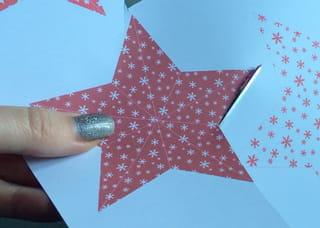 Origami étoile en papier - Étape 1