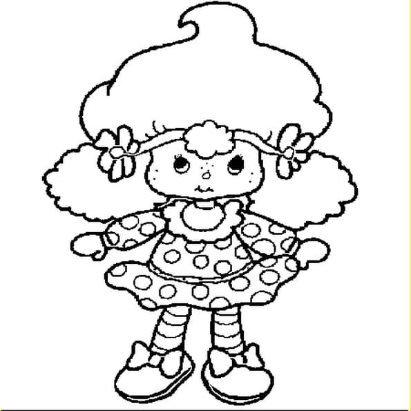Dessin poupée a colorier