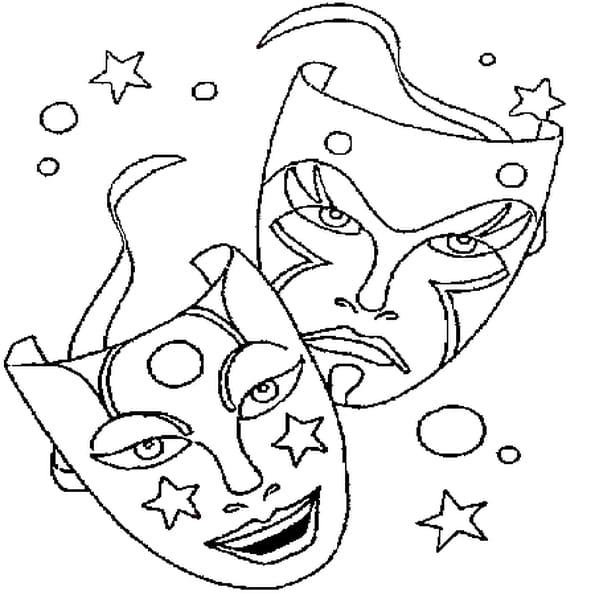 Coloriage masque de carnaval en Ligne Gratuit à imprimer