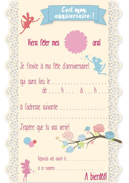 Anniversaire Cartes d/'Invitation Invite-Journal Journal
