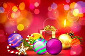 Jolies boules de Noël