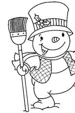 Coloriage bonhomme de neige en Ligne Gratuit à imprimer