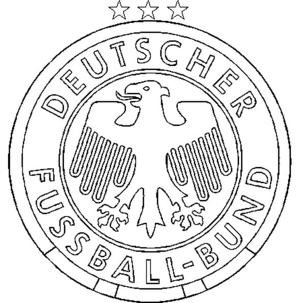 Dessin Allemagne Football a colorier