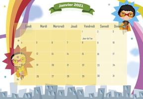 Superhéros: calendrier2021