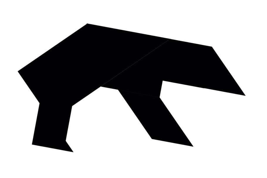 Le tangram niveau difficile, un ours