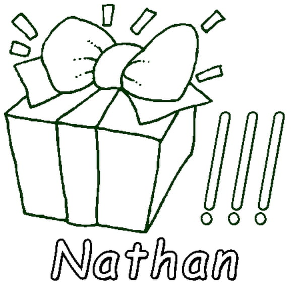 Coloriage Nathan en Ligne Gratuit à imprimer