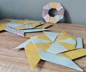 Frisbee shuriken en papier