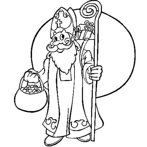 saint nicolas coloriage