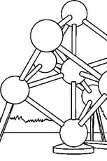 Coloriage Atomium