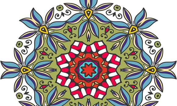 Coloriage Mandalas Fleurs