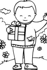 Coloriage fête des pères en Ligne Gratuit à imprimer