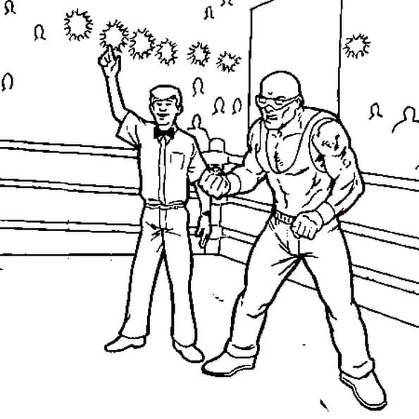 Coloriage WWE en Ligne Gratuit à imprimer