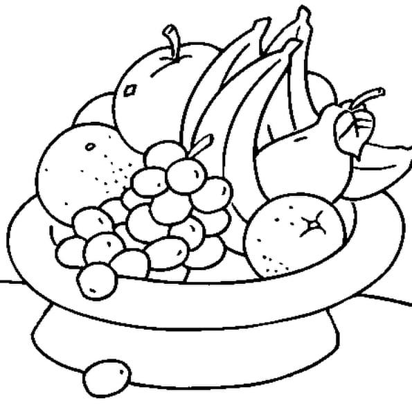 Coloriage Coupe de Fruits en Ligne Gratuit à imprimer