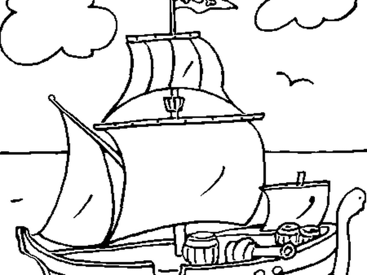 Coloriage Bateau Pirate En Ligne Gratuit à Imprimer