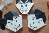 Vampire en origami pour Halloween, pliage papier [VIDEO]