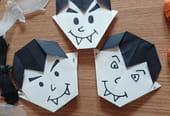 Vampire en origami pour Halloween, pliage papier [VIDEO]