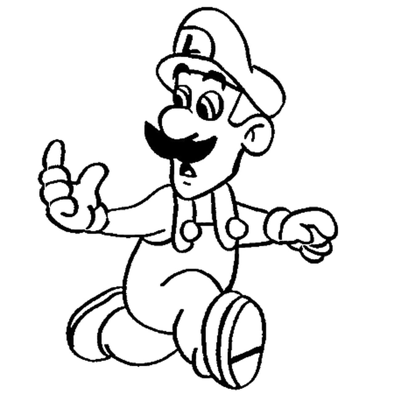 Coloriage Luigi Mansion 2.Coloriage Luigi En Ligne Gratuit A Imprimer