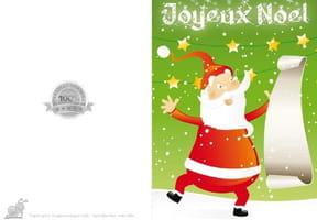 Carte liste au Père Noël