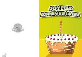 Carte joyeux anniversaire gâteau 1an