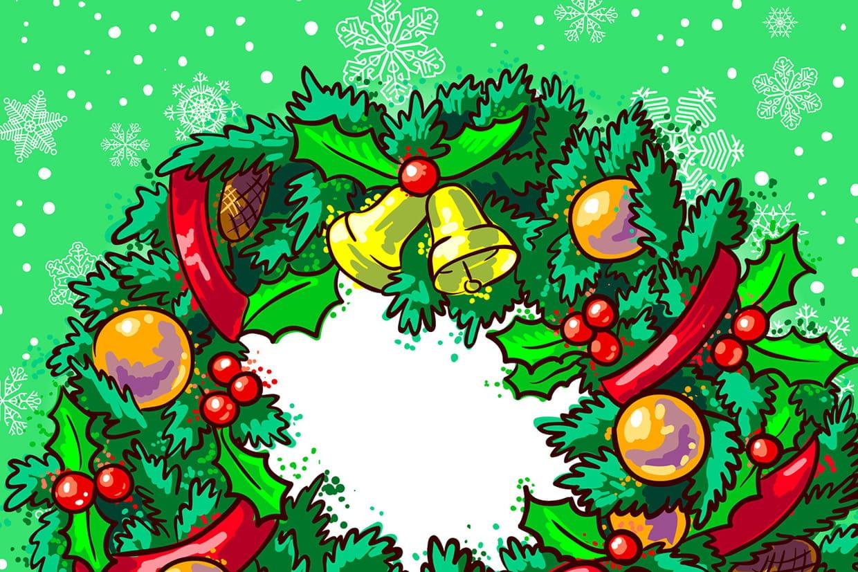 Couronne De Porte Noel Design coloriage couronnes de noël sur hugolescargot