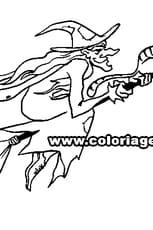 Coloriage Halloween sorciere en Ligne Gratuit à imprimer