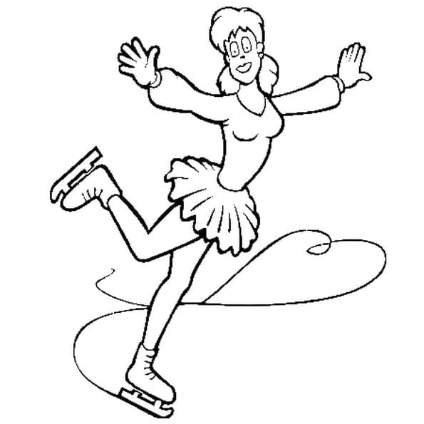 Dessin patinage a colorier