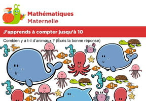 Mathématiques, apprends à compter jusqu'à 10