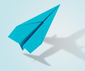 Avion en papier: origami facile pour faire voler son avion
