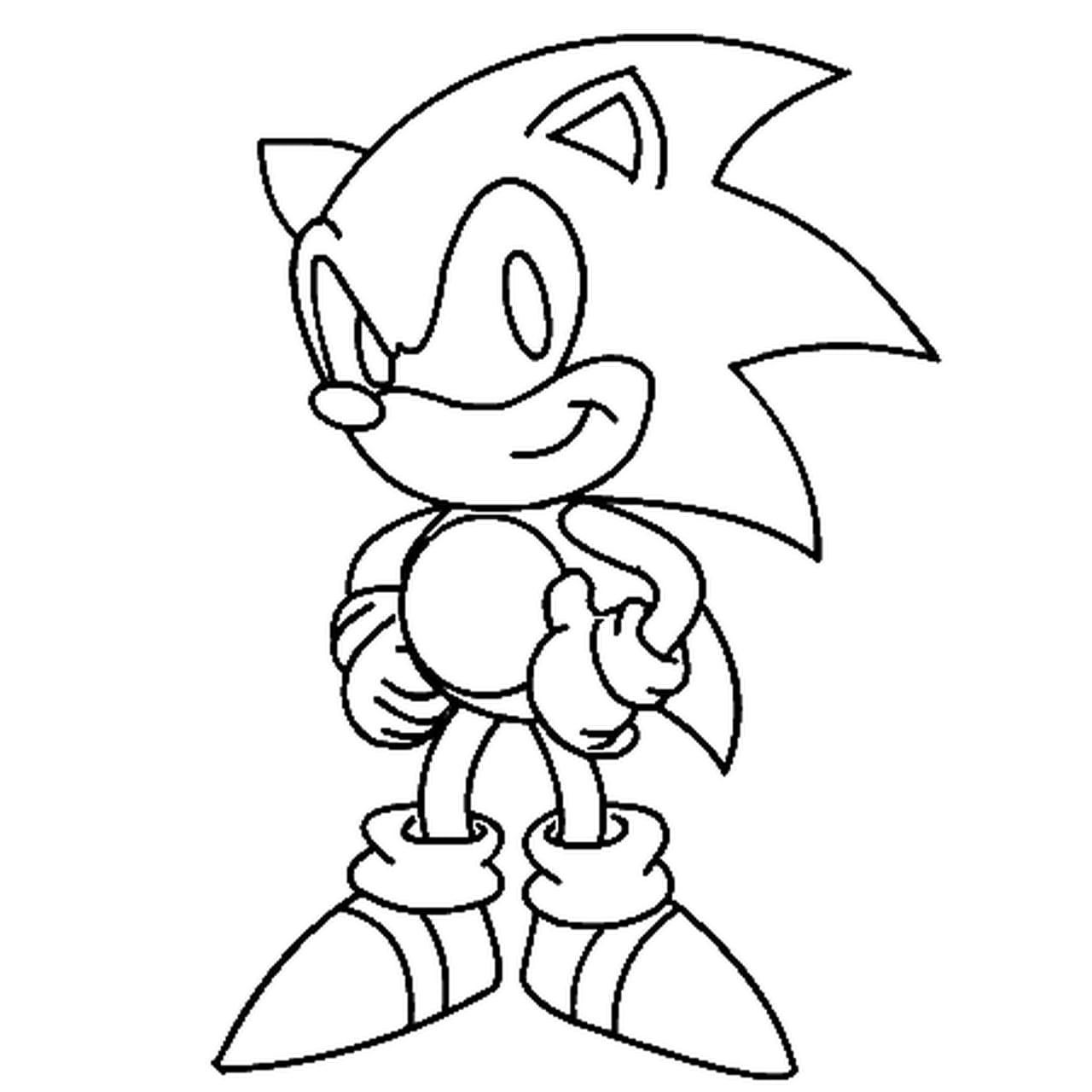 Coloriage Gratuit Sonic.Coloriage Sonic En Ligne Gratuit A Imprimer