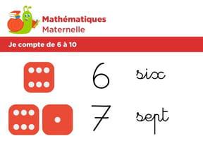 Mathématiques fiche 1, je compte de 6à 10