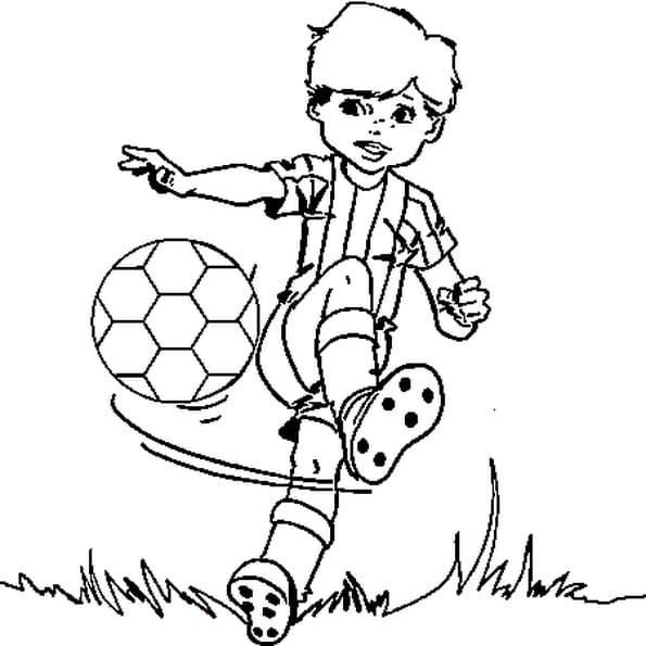 Coloriage de foot en ligne gratuit imprimer - Footballeur a colorier ...