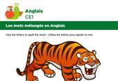 Les mots mélangés en Anglais, exercice 2