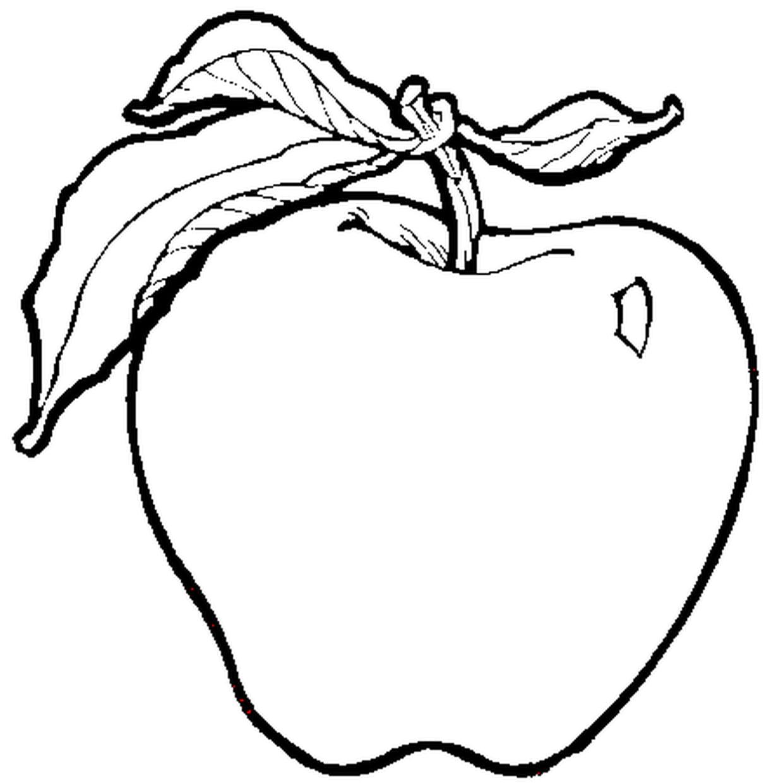 Coloriage Pomme Verte En Ligne Gratuit A Imprimer